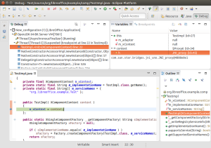 Remote debugging an extension with LOEclipse